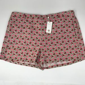 "Tory Burch ""Bloom Doves"" Silk Gazar Dress Shorts"
